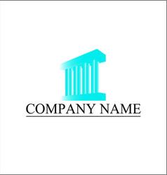 building pillar logo for company vector image