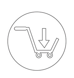 buy shopping cart icon vector image