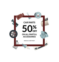 car parts frame place for text vector image