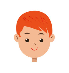 Cartoon character face boy children vector