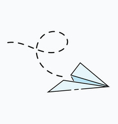 cartoon paper airplane logo aircraft made vector image