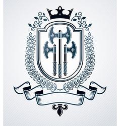 Classy emblem heraldic Coat of Arms vector image