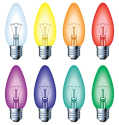 Color light bulb vector image