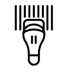 Commercial barcode scanner icon outline style vector