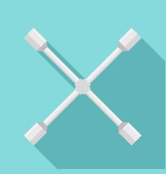 cross wheel key icon flat style vector image