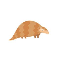 cute pangolin animal side view cartoon vector image