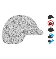 Dash mosaic motorcycle helmet icon vector