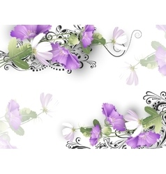 Delicate flowers background vector image