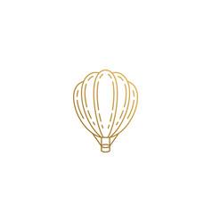 Design hot air balloon hand drawn vector