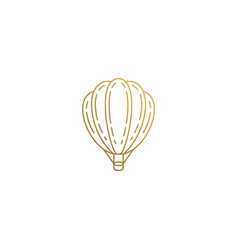 design hot air balloon hand drawn with vector image