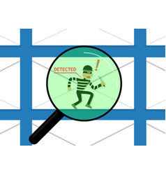 detected malware in phishing mail vector image