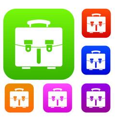 Diplomat bag set collection vector