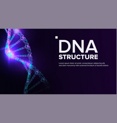 dna structure genetic molecule clone atom vector image