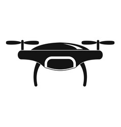 Drone icon simple style vector
