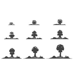 explosion silhouettes animation collection vector image