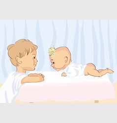 family drawing vector image