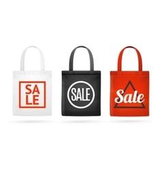 Fashion Sale Fabric Cloth Bag Tote Set vector