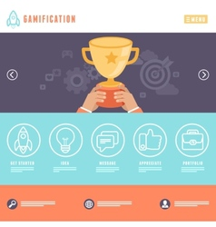 Flat webpage template vector