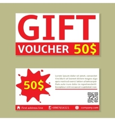 Gift voucher cards vector