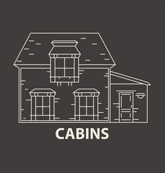 Glamping cabin accommodation vector