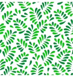 Green spring leaves seamless pattern on white vector