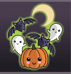 Halloween pals party vector