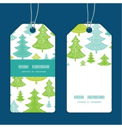 Holiday christmas trees vertical stripe vector