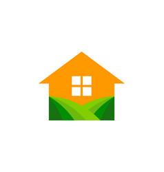 House farm logo icon design vector