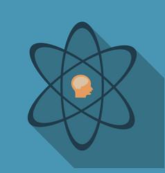 Human head and icon of science the concept of vector