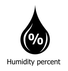 Humidity percent icon simple style vector