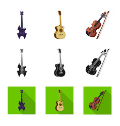 Isolated object of music and tune icon collection vector