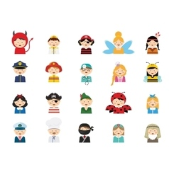 kids wearing different costumes vector image