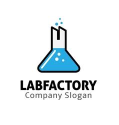 Lab Factory Design vector image