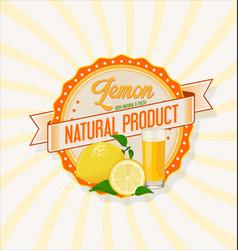 lemon juice retro vintage background vector image