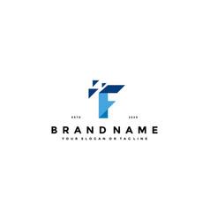Letter f tech logo design vector