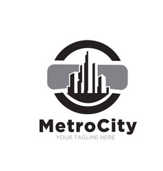 metro city concept logo designs vector image