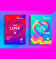 modern poster design with creative 3d heart vector image