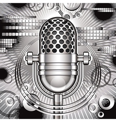Music with microphone vector image
