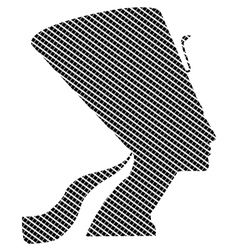Nefertiti in quadrates vector