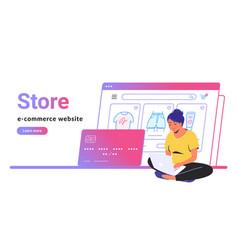 Online store e-commerce website banner vector