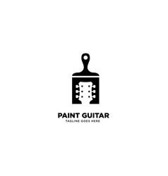 Paint guitar logo template icon element vector
