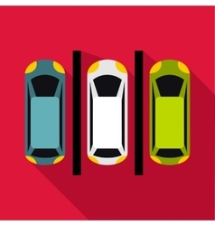 Parking icon flat style vector