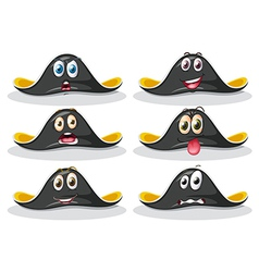 Pirate hats vector image