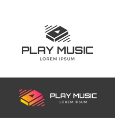 Play music logo vector image