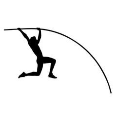 pole vault male athlete vector image