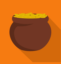 pot coin icon flat style vector image