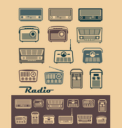 radio receivers vector image