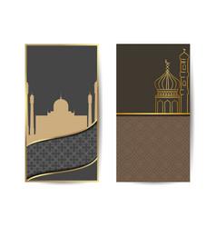 Ramadan kareem vertical posters concept arabic vector
