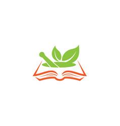 Recipes book vegan cookbook logo design vector