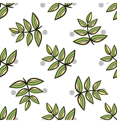 Seamless Pattern Decorative Leaves vector image